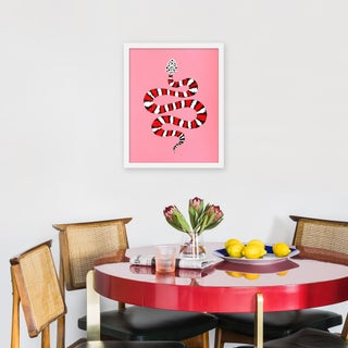 """Small """"Strawberry Chiffon the Snake"""" Print by Willa Heart, 16"""" X 20"""" Preview"""