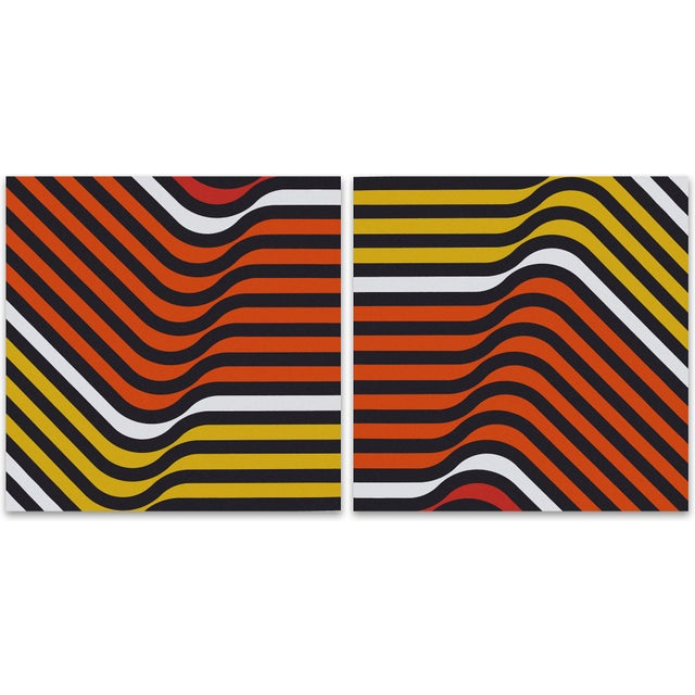 Orange Ripples 1970 Large Supergraphic Print Set - Image 5 of 5
