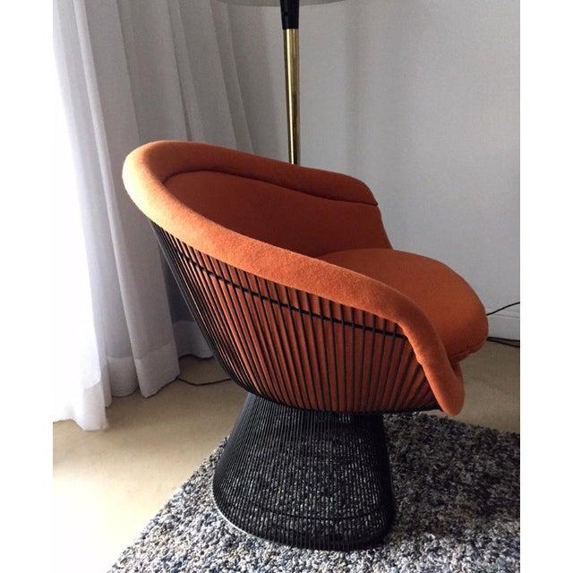 Orange 1960s Vintage Warren Platner Bronze Lounge Chair For Sale - Image 8 of 10