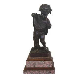 Theodore Alexander Bronze & Granite Sculpture For Sale