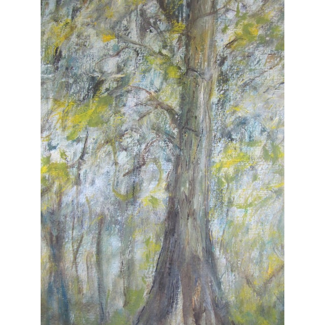 Vintage Impressionist Forest Painting For Sale - Image 4 of 7