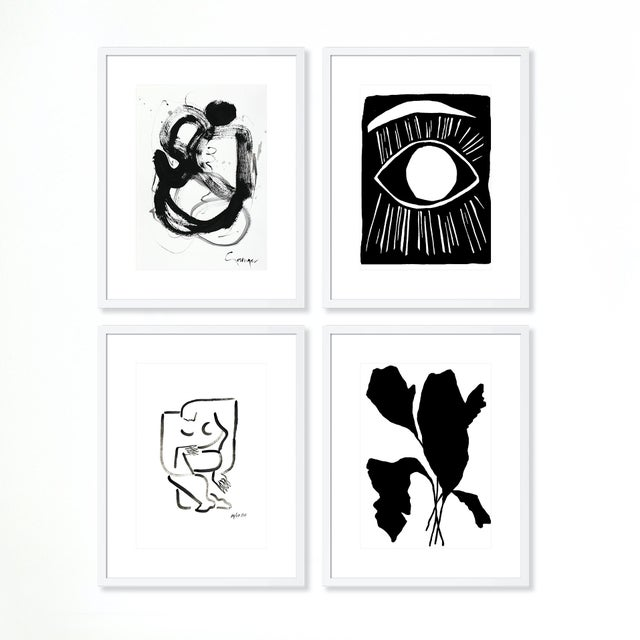 Paper Minimalist Gallery Wall, Set of 4 For Sale - Image 7 of 7