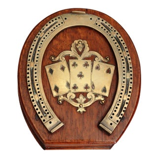 Antique English Equestrian Cribbage Game For Sale