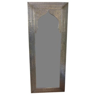 Large Martoni Rectangle Mirror W/ Arch Inset For Sale