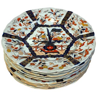 Nine Masons Ironstone Dinner Plates Imari /Indian Tree Pattern Variation For Sale