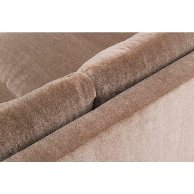 Mohair Roger Sprunger Curved Back Sofa for Dunbar For Sale - Image 7 of 10
