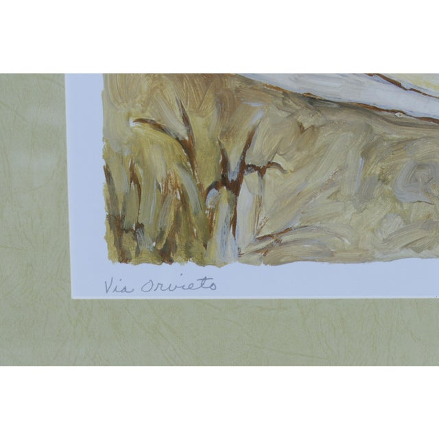 """Late 20th Century Tuscan Landscape """"Via Orvieto"""" by C. Winterle Olson For Sale - Image 5 of 8"""