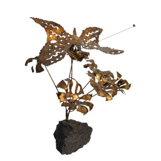 C. Jere Style Brutalist Butterfly Sculpture For Sale
