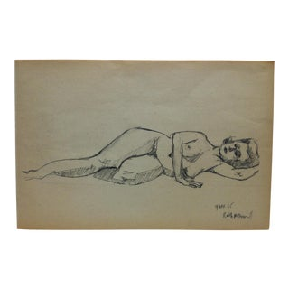 """1965 Vintage """"Ruth McDowell"""" Tom Sturges Jr. Drawing For Sale"""