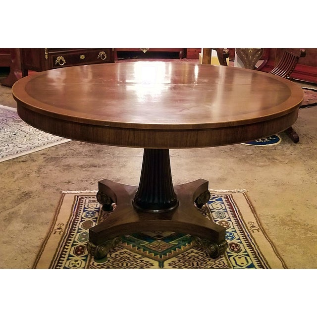 Late 19th Century American Mahogany Extendable Dining or Center Table For Sale - Image 13 of 13