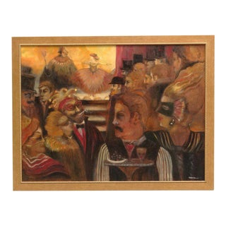 Masquerade Ball Scene Oil Painting For Sale