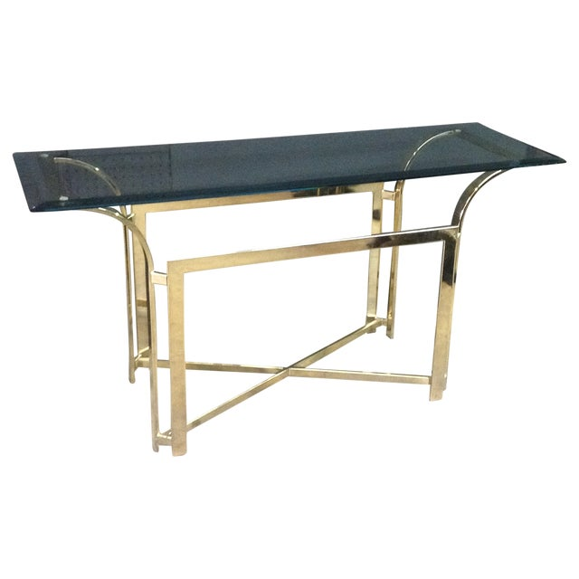 DIA Style Brass Console Table - Image 1 of 7