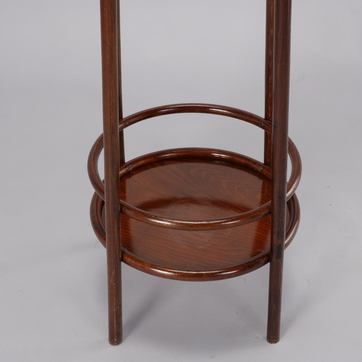 Sophisticated Thonet Art Nouveau Bent Wood Plant Stand Decaso
