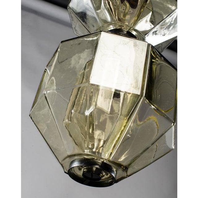 Blown Glass Vistosi Double Vessel Amber Glass Lantern For Sale - Image 7 of 10