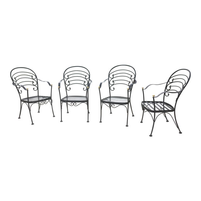 Early 21st Century Woodard Wrought Iron Patio Set- 5 Pieces For Sale - Image 9 of 10