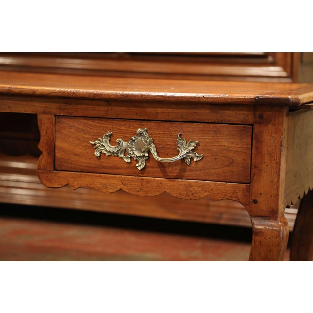 Late 18th Century 18th Century French Louis XV Carved Cherry Desk With Drawers and Pullout Trays For Sale - Image 5 of 13