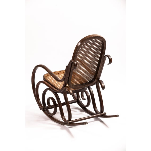 Traditional Bentwood Child's Rocking Chair For Sale - Image 3 of 4