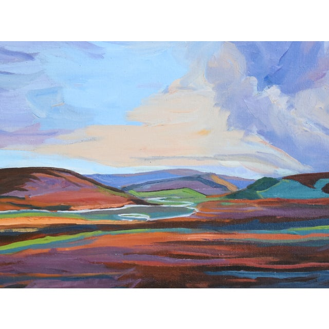 Abstract Ray Cuevas, Plein Air River Landscape Oil Painting For Sale - Image 3 of 8