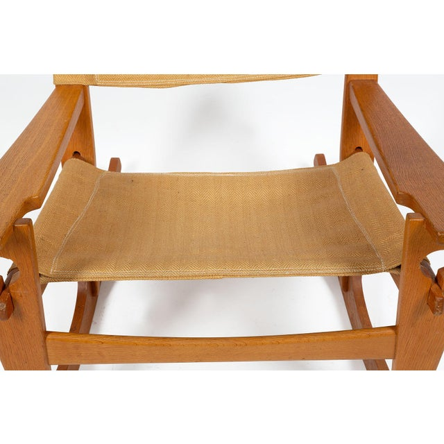 Keyhole Rocking Chair by Hans Wegner For Sale - Image 12 of 13