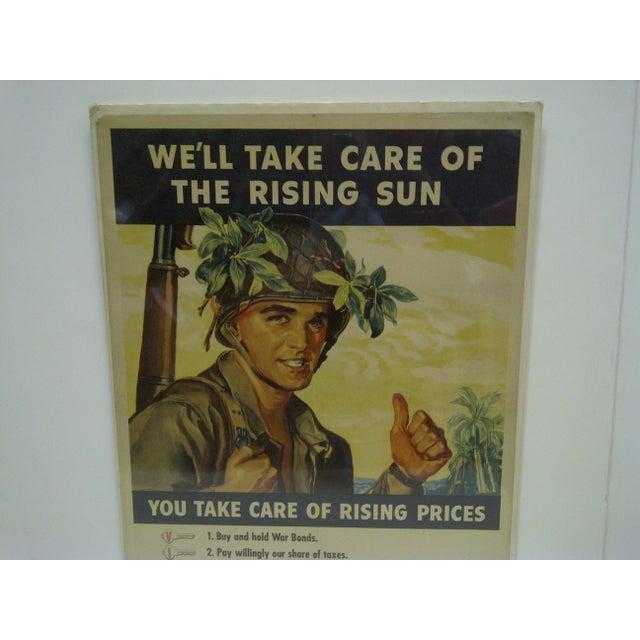 Vintage World War II War Bonds Poster For Sale - Image 4 of 6