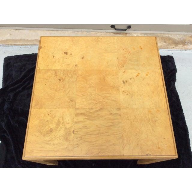 Mid-Century Modern Mid Century Modern Henredon Scene Two Burlwood Table For Sale - Image 3 of 11