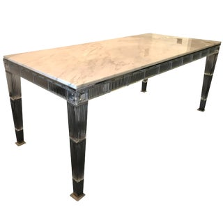 Baccarat Crystal and Marble Table Designed by Philippe Starck For Sale