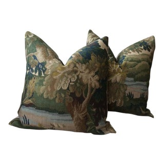 "English Traditional Cowtan and Tout ""Richmond"" Pillows - a Pair For Sale"