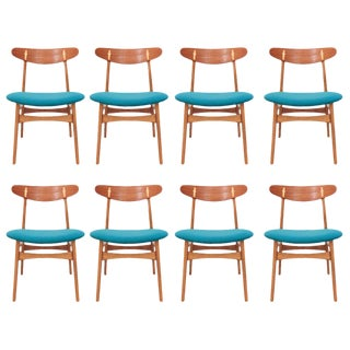 Set of 8 Hans Wegner CH-30 Dining Chairs For Sale