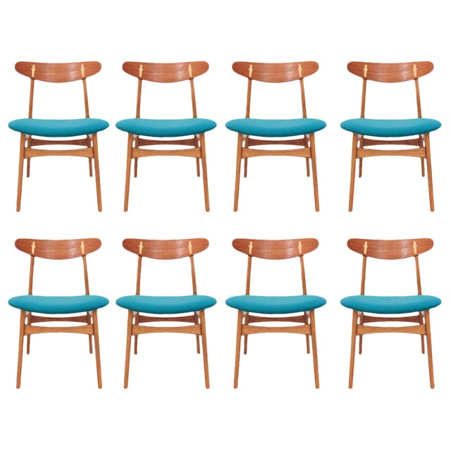Set of 8 Hans Wegner CH-30 Dining Chairs - Image 1 of 10