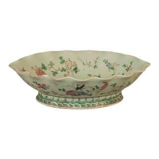 Antique Chinese Porcelain Serving Bowl For Sale