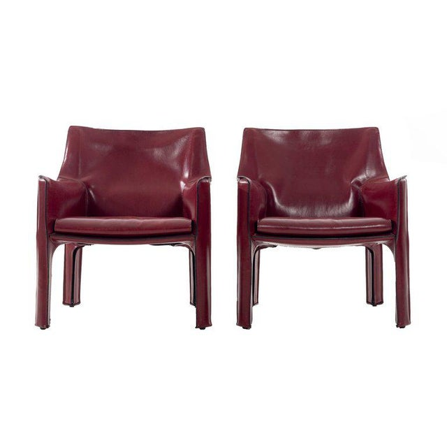 Mario Bellini Cab Lounge Chairs For Sale - Image 11 of 11