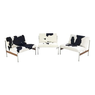 Forsyth One of a Kind Glenn of California Lounge Chairs in Brazilian Cowhide - Set of 3 For Sale