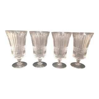 Vintage Crystal Fostoria Ice Tea Glasses - Set of 4 For Sale