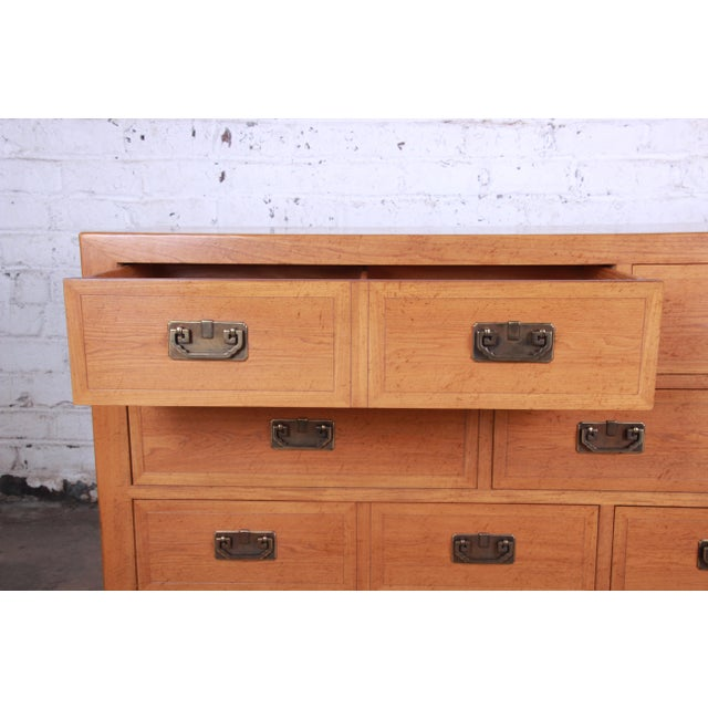 Michael Taylor for Baker Furniture Far East Collection Elm Wood Long Dresser For Sale In South Bend - Image 6 of 13