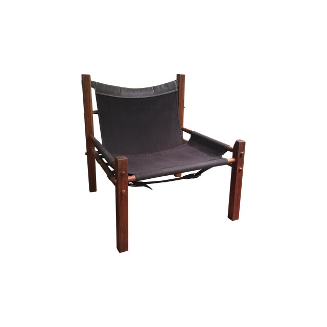 Arne Norell Style Campaign Sling Chair For Sale