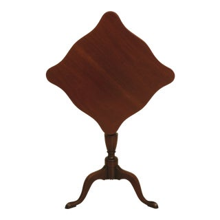 1970s Vintage Kittinger Colonial Williamsburg Mahogany Tilt Top Table For Sale