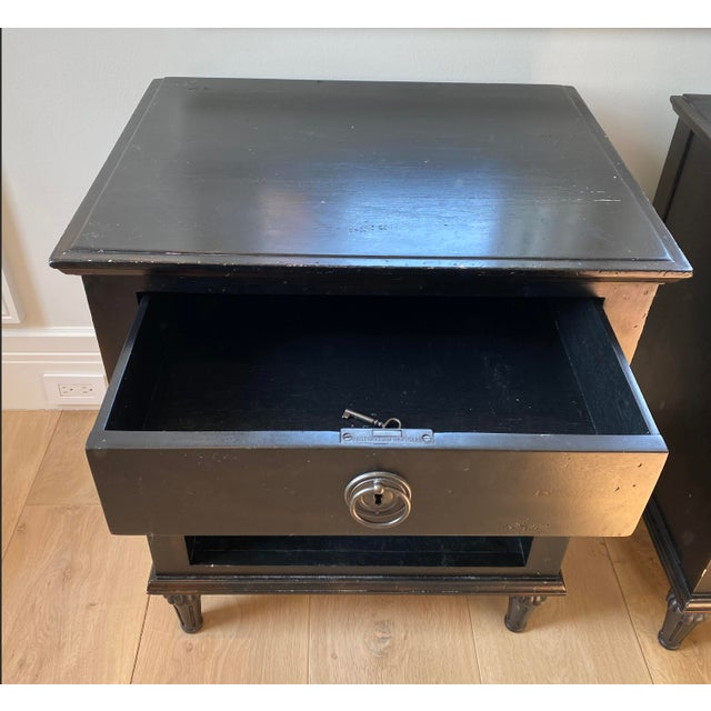 Maison 18th Century French Inspired Ebonized Open Nightstands - a Pair For Sale In Miami - Image 6 of 7