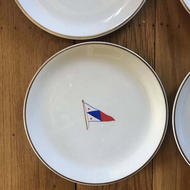 Ceramic Vintage Syracuse China Yacht Club Plates - Set of 6 For Sale - Image 7 of 13
