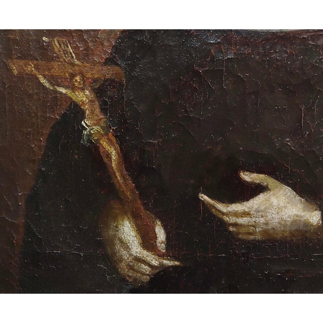 17th Century 17th Century Italian Old Master -Portrait of a Nun - Oil Painting For Sale - Image 5 of 8