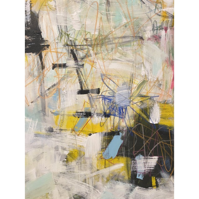 """Contemporary """"Get Outta Town"""" Contemporary Abstract Expressionist Mixed-Media Painting by Sarah Trundle For Sale - Image 3 of 5"""