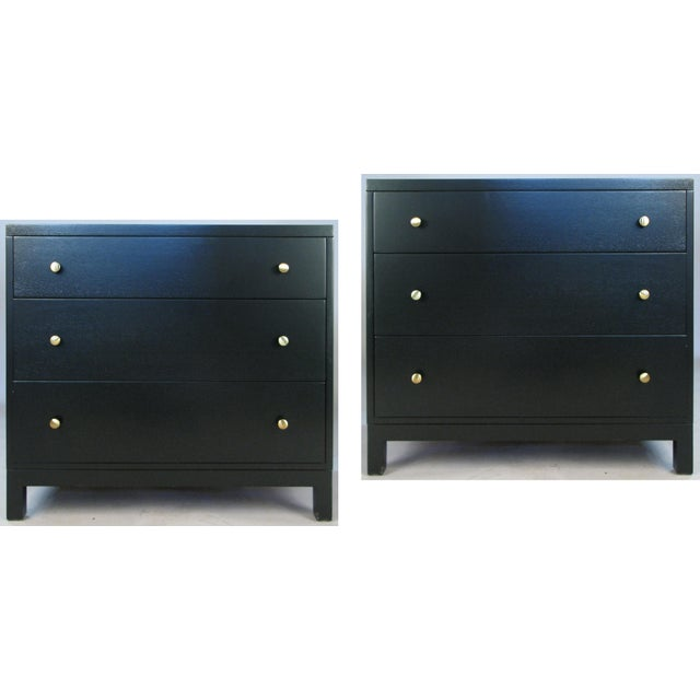 Black 1940s Modern Chests by Widdicomb-a Pair For Sale - Image 8 of 8