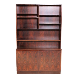Gunni Omann Refinished Danish Rosewood Shelving Unit by Omann Jun For Sale
