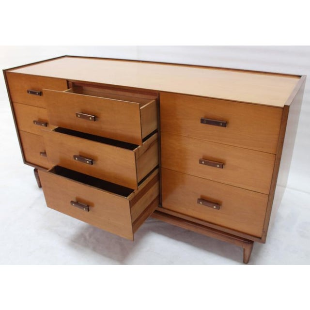 Nine Drawers Two-Tone Finish Dresser For Sale - Image 4 of 8