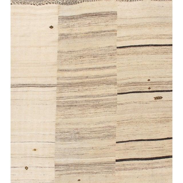 """Vintage Turkish Panel Kilim - 6'9"""" X 10'9"""" - Image 4 of 4"""