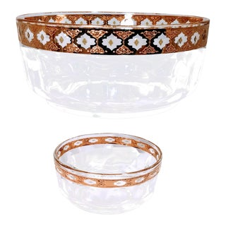 Vintage Mid Century Culver Valencia Serving Bowls- A Pair For Sale
