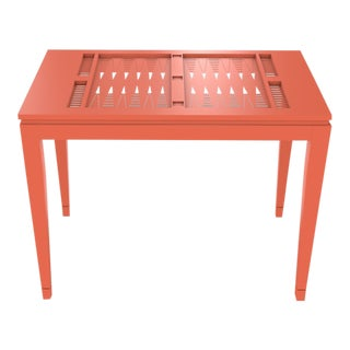 Oomph Backgammon Outdoor Table, Orange For Sale