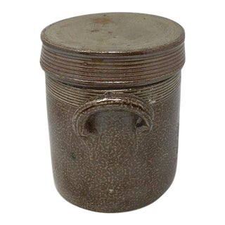 Small Terracotta Jar With Lid For Sale