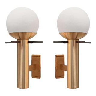 Pair of Italian 1960 Sconces By Stilux For Sale