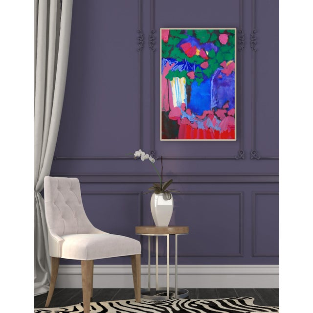 """Original """" Tree Blossoms"""" Contemporary Abstract Painting For Sale In Portland, OR - Image 6 of 6"""