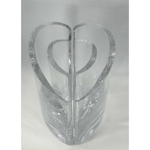 Crystal Glass Heart Vases A Pair Chairish